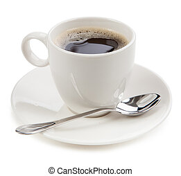 café, en, Un, taza, aislado, en, blanco, background, ,