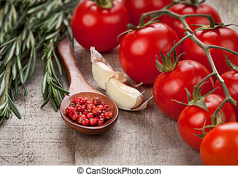 Spices and tomatoes