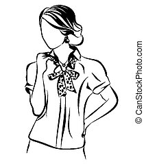 Business woman Outline