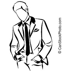 Businessman Outline