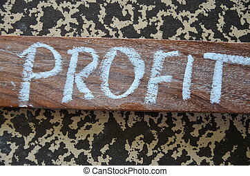 profit word on a abstract background