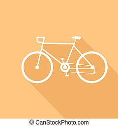 Sport bike vector illustration of a flat design
