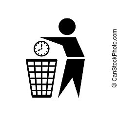 Do not waste time icon - Do not waste your time icon on...