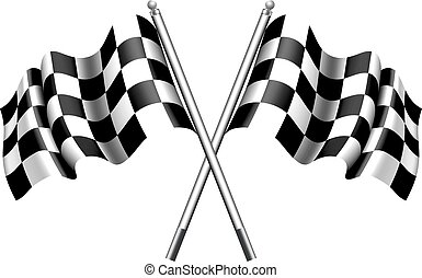 Chequered, Checkered Flags - Flags Motor Racing