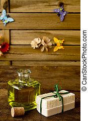 Bars of soap olive oil handmade