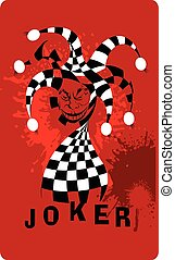 bloody joker - Joker game card with the image of the red and...