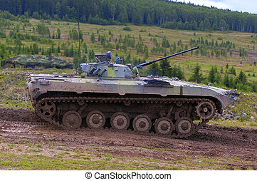 BMP 2 fighting vehicle - russian light infantry armoured...