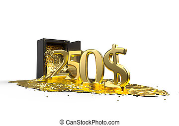 safe and liquid gold. Gold rises 250 dollars. path included....