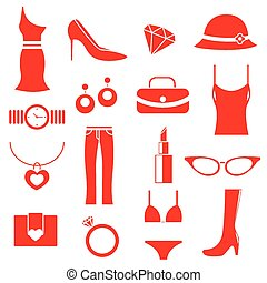 female clothes icons