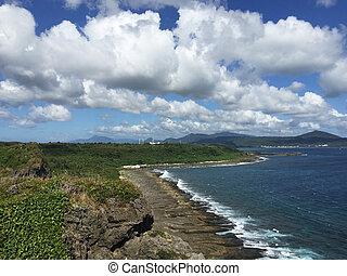 Taiwan coastal line - Scenic east coast shore line of Taiwan...