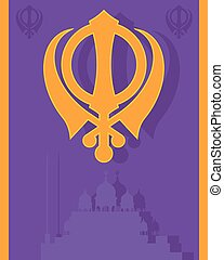 religious greeting - an illustration of a Sikh greeting card...