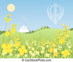punjabi landscape - an illustration of a bright punjbi...