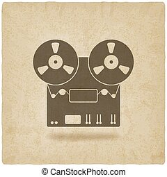 tape recorder old background - vector illustration. eps 10
