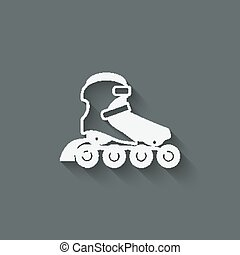 roller skate symbol - vector illustration. eps 10