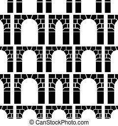 Vector background for archway - Seamless vector pattern with...