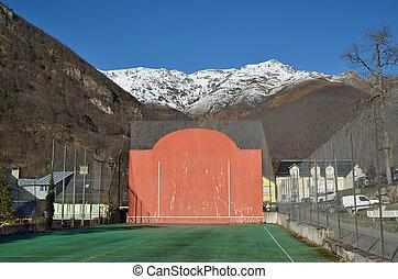Open-air fronton for Basque pelota - The open-air single...
