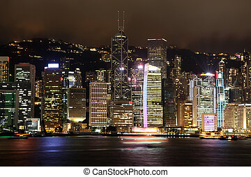 Hong Kong in the night, China