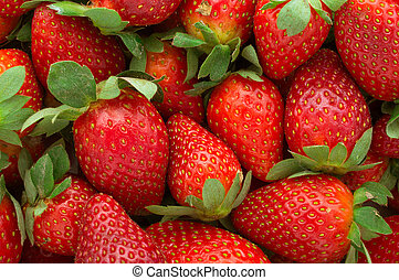 Strawberry - full frame - Fresh ripe perfect strawberry-...