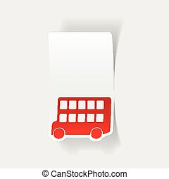 realistic design element: bus double decker