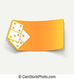 realistic design element: domino