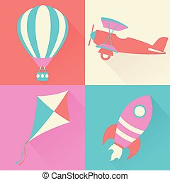 Air Travel - Various forms of transportation which travel by...