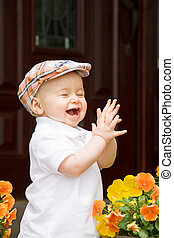 Little Boy Clapping - Cute Little Boy Clapping
