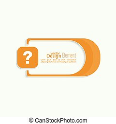 Question mark icon Help symbol FAQ sign on a yellow...