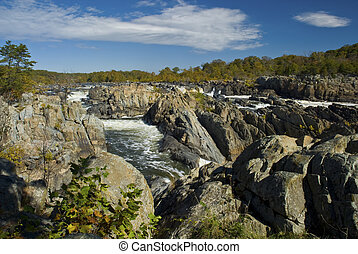 Great Falls along the Potomac River on the Virginia side