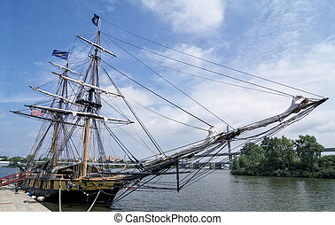 US Brig Niagara Tall Ship - The reconstructed US Brig...