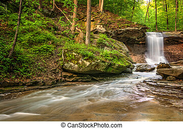 Blue Hen Falls in Cuyahoga Valley National Park Ohio A...