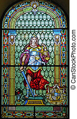 Stained glass - Leaded glass and the image that is a symbol...