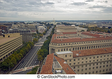 Washington DC - An ariel view of Washington DC as seen from...