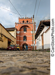 Church Alley at San Cristobal de Las Casas Traveling through...