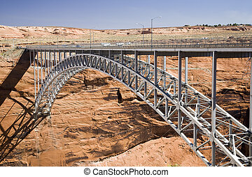 Glen Canyon Dam Bridge - Glen Canyon Dam bridge in Arizona...