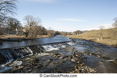 River in an english countryside landscape