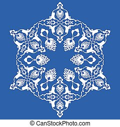 blue artistic ottoman pattern serie - Inspired by the...