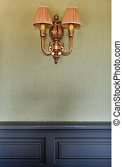 Wall lighting - Stylish and vintage wall lighting in a home