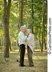 Senior couple resting - Portrait of senior couple resting in...