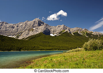 Canadian Rockies - Spray lakes with the Canadian Rockies in...