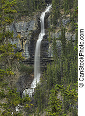 Bridal Veil Falls in Banff National Park, Alberta Canada...