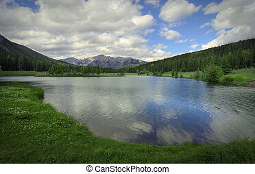 Cascade Ponds near Banff in Banff National Park Canada....