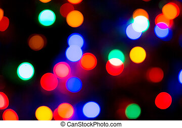 Party Lights Bokeh - Photo of colorful Christmas or party...
