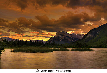 Rocky Mountain Sunset - Beautiful sunset over the Vermilion...