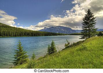 Canadian Rockies - Spray lakes in the Canadian Rockies near...