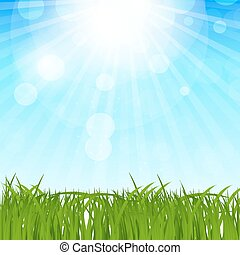 Natural Spring Background Vector Illustration EPS10
