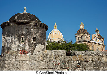 Fortified Wall of Cartagena - Fortified wall built to defend...