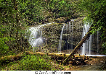 Hocking HIlls Waterfall - A hidden waterfall in Hocking...