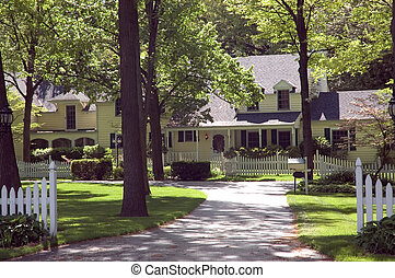 New Home 107 - Sprawling Colonial style home. Mature trees...