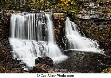 Blackwater Falls In Autumn - Blackwatwer Falls West Virginia...