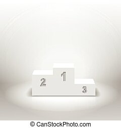 White winners podium for business concepts vector...